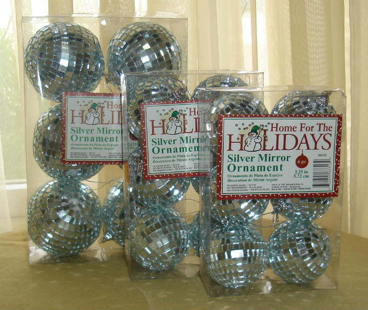 Disco Ball Decorations Cheap: 6 Pack Silver Mirror Disco Balls, Discount Decorative
