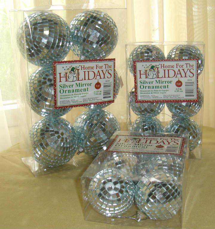 6 Pack Silver Mirror Disco Balls Discount Decorative