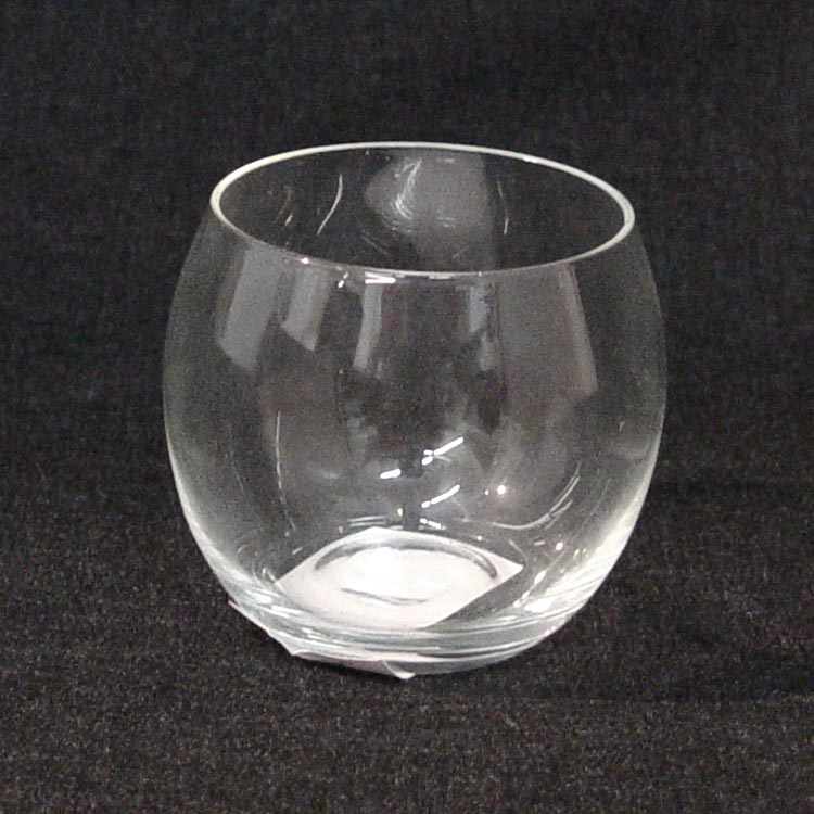 2 14in Glass Roly Poly Votive Holder Jpg