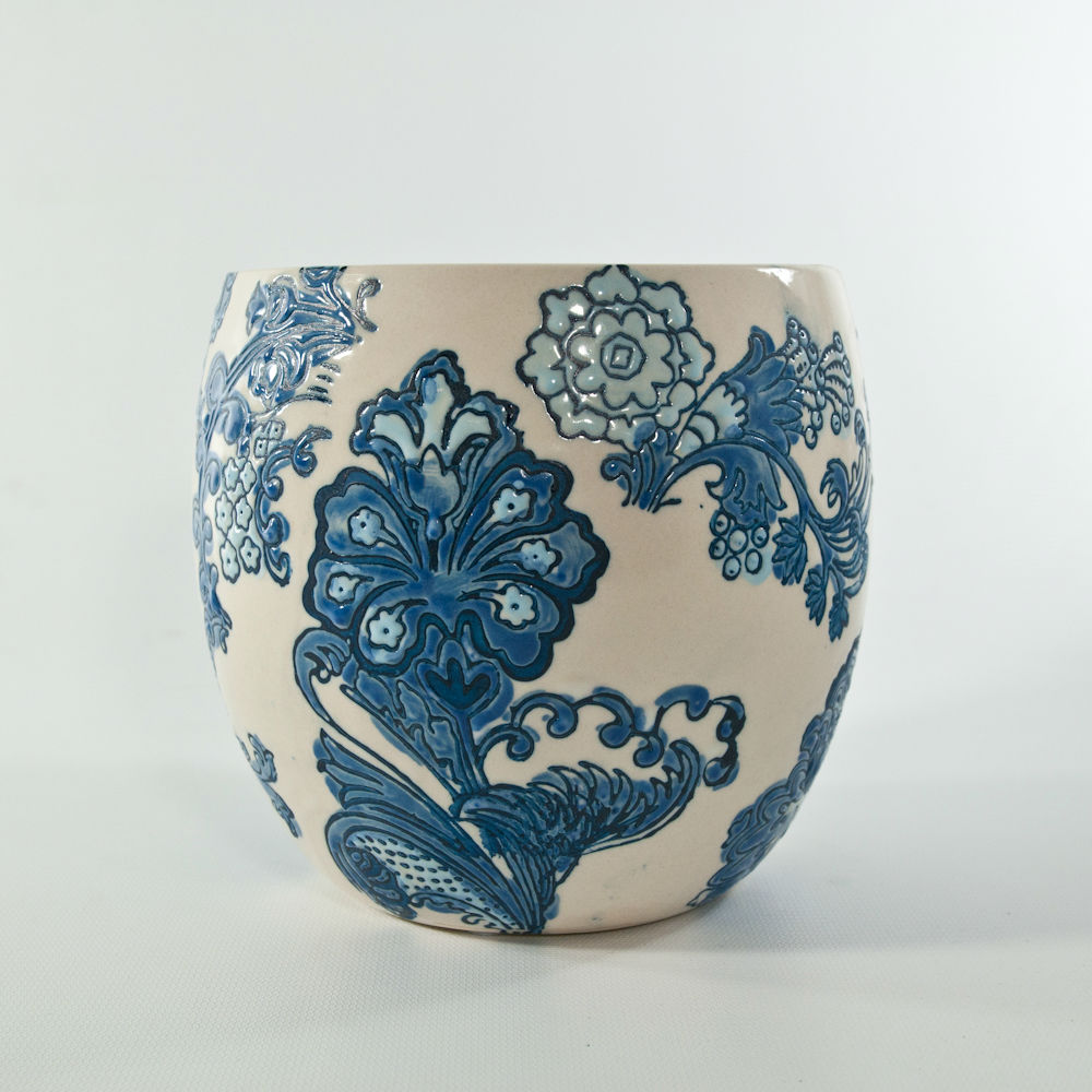 Index of imagesvasesceramic 6in textured blue and white flower potg reviewsmspy
